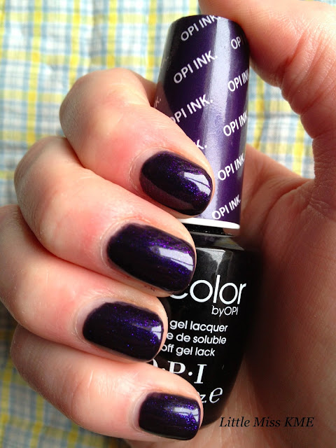 Picture of OPI Gel Color in natural light. OPI INK