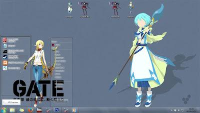 [Theme Win 7] Gate: Jieitai Kanochi nite Kaku Tatakaeri by Eldiaz7 2