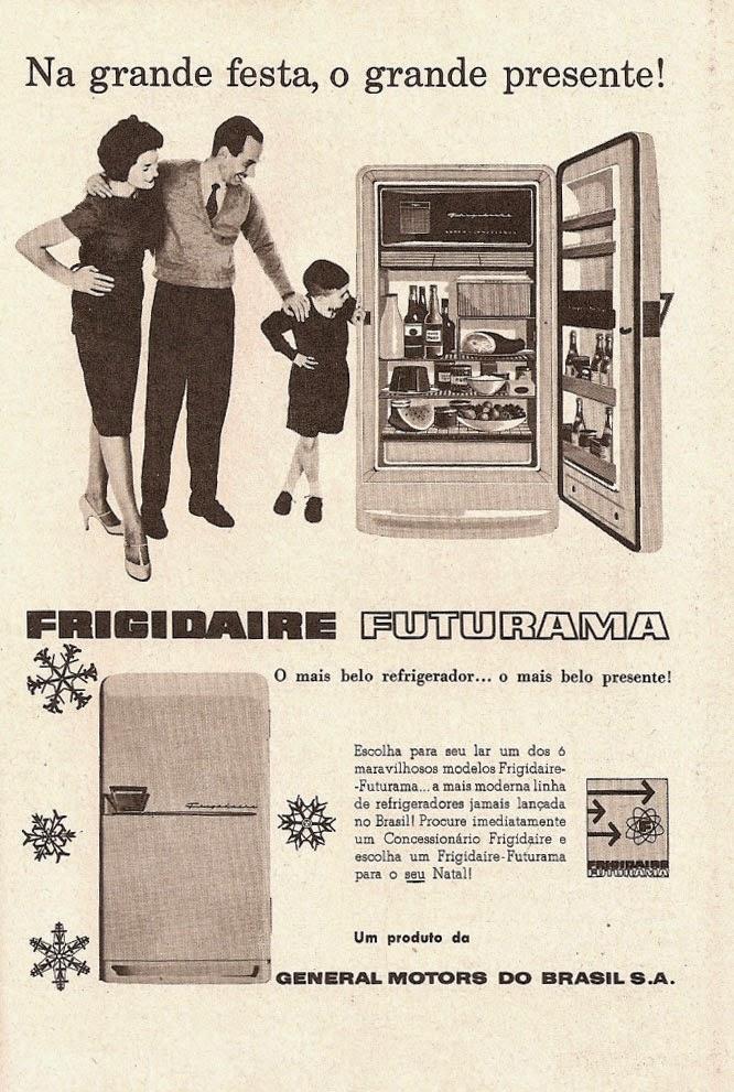Propaganda do refrigerador Frigidaire nos anos 50: marca que virou sinônimo de produto.