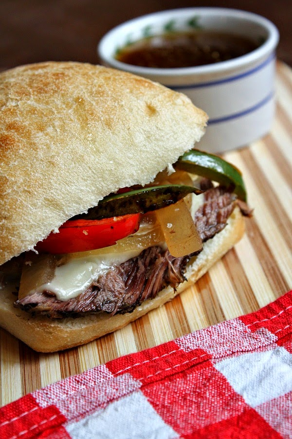 Slow Cooker French Dip Sandwiches from Recipe Girl found on SlowCookerFromScratch.com