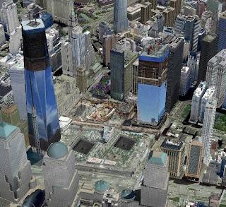 WTC in costruzione in Google Earth