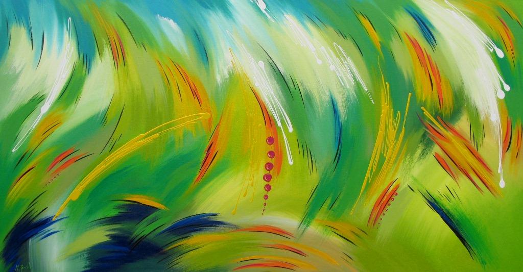 Pintura abstracta moderna cuadros modernos pintados en for Imagenes de cuadros modernos