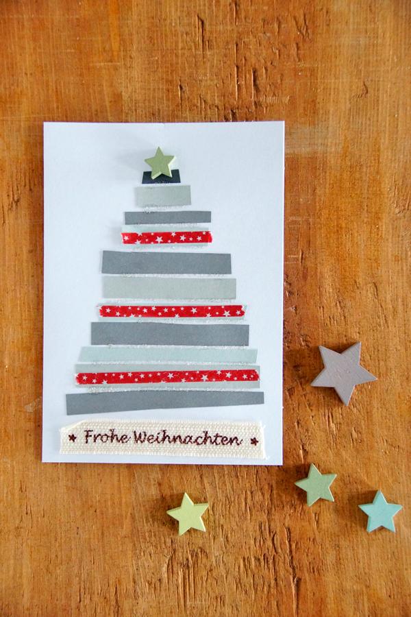 Weihnachtskarten basteln, DIY, Christmas Card, Weihnachten