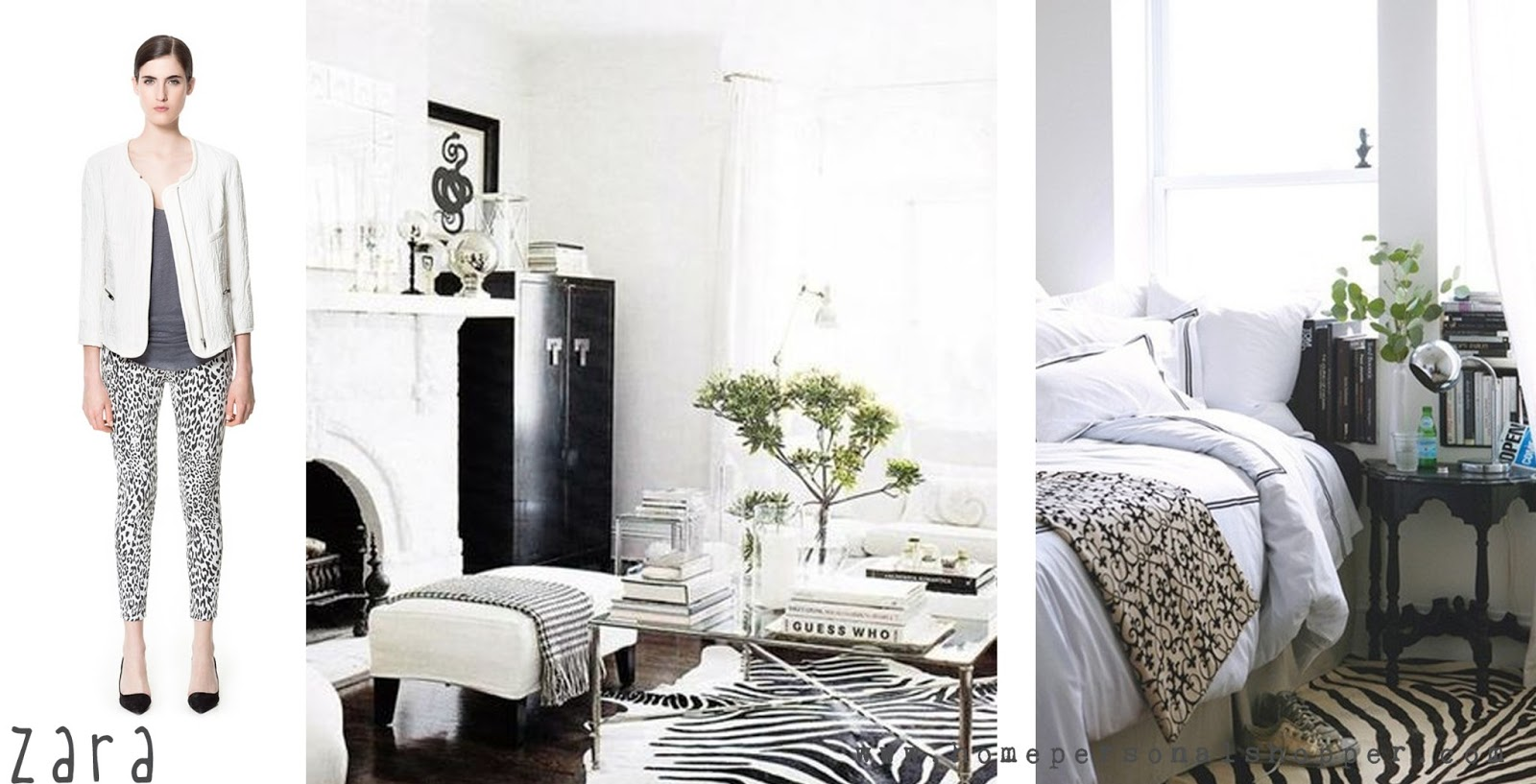 zara, vestir, moda, ropa, tendencias, homepersonalshopper, blanco, rayas, amarillo, print, zebra