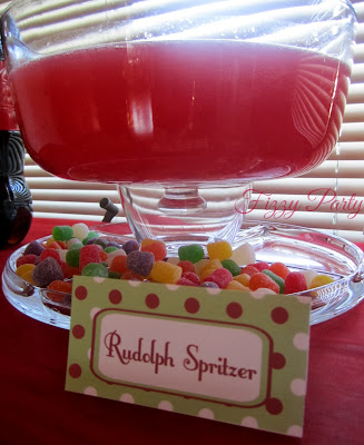 Elf party, Fizzy Party, Christmas party, Christmas punch