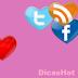 Redes Sociais em Forma de Coração Flutuante