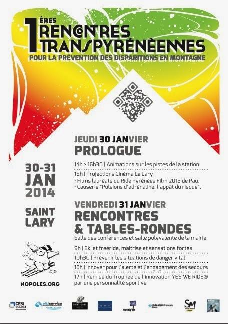Rencontres Transpyrénéennes pour la Prévention des disparitions en montagne 2014 à St Lary