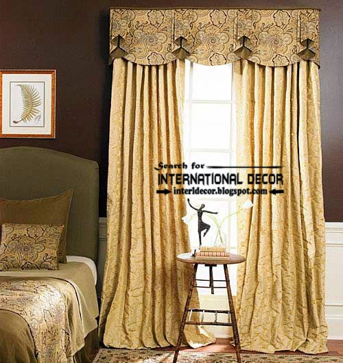 English style curtains for bedroom and window valances for Window valances for bedroom