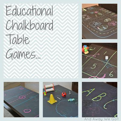 Educational chalkboard table games