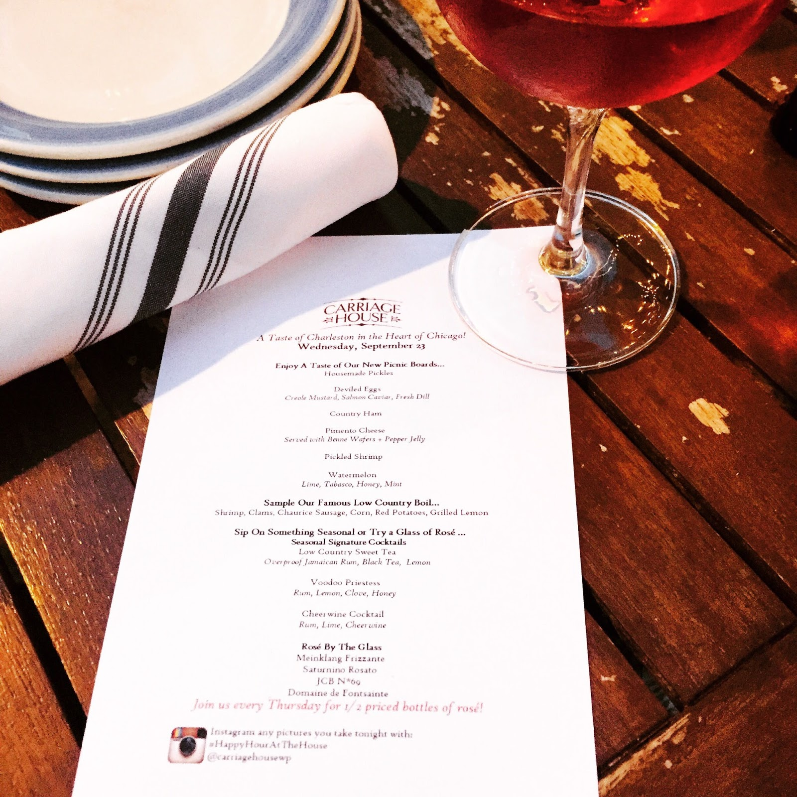 Lowcountry Carriage House: Dinner At Carriage House Chicago