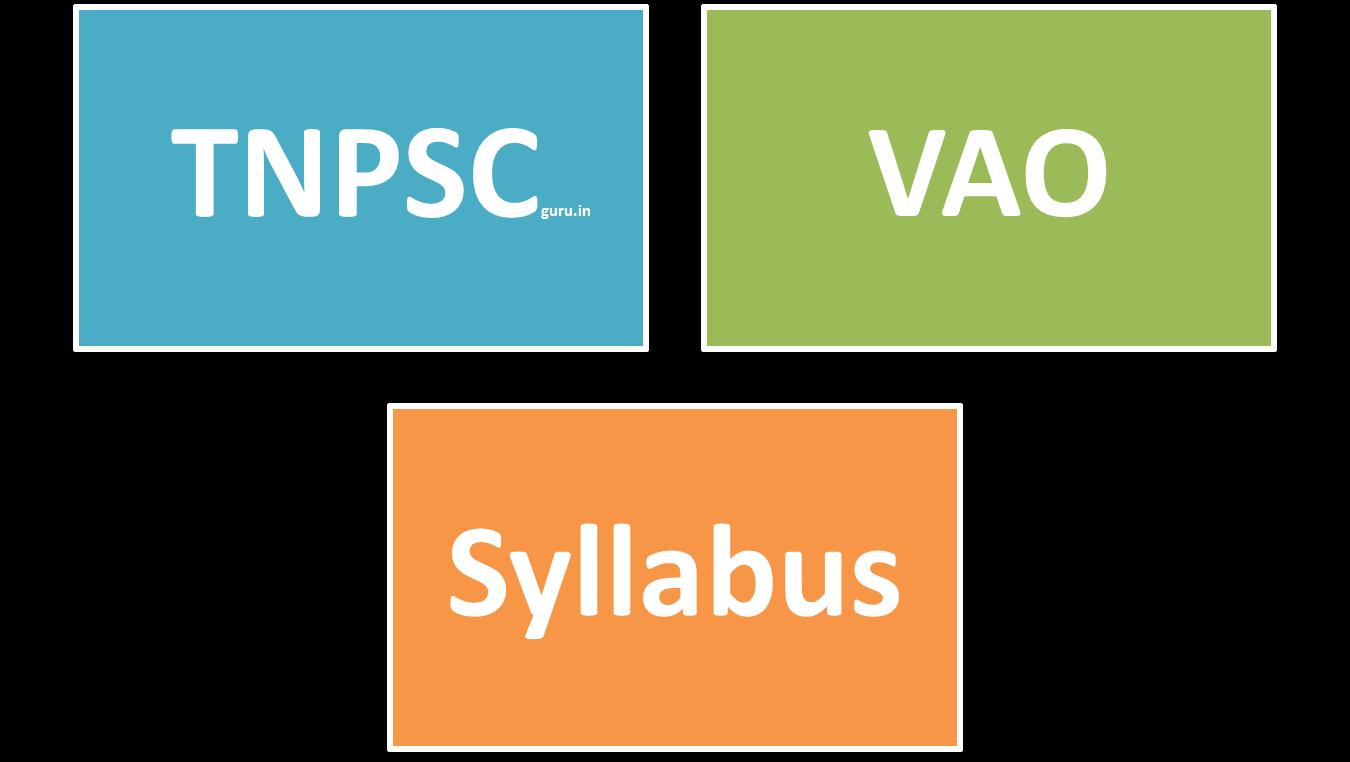 Download tnpsc vao 2017 2018 syllabus in tamil new download tnpsc vao 2017 2018 syllabus in english