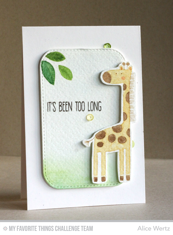 It's Been Too Long Card by Alice Wertz featuring the Sweet Safari stamp set #mftstamps