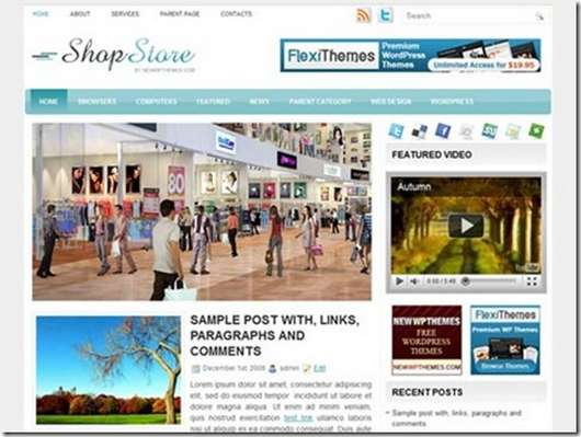 Download Shop Store WordPress theme