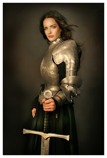 armor woman sword badass