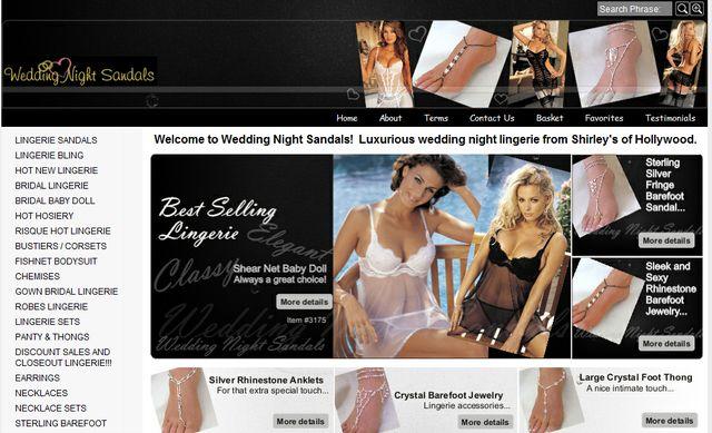 Sexy Jewelry at Weddingnightsandals.com