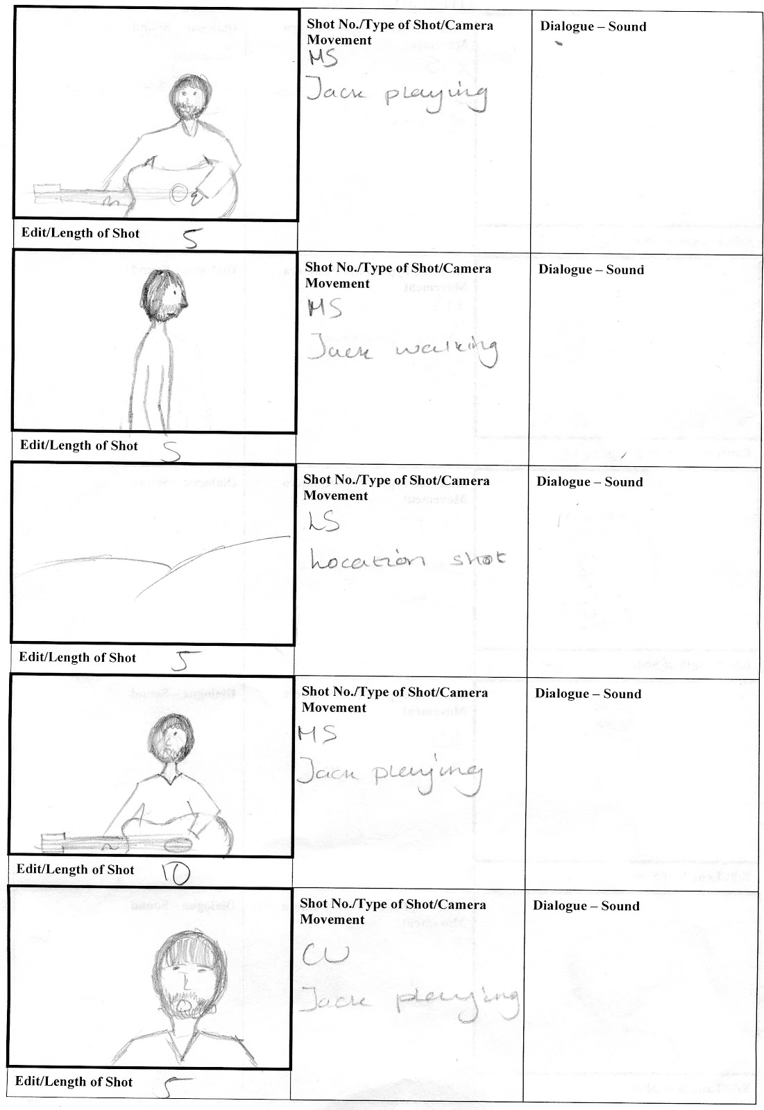 This Is Our New Storyboard For Our Music Video. We Have Gone With A Mainly  Performance Based Video That Will Take Place Outside. Idea