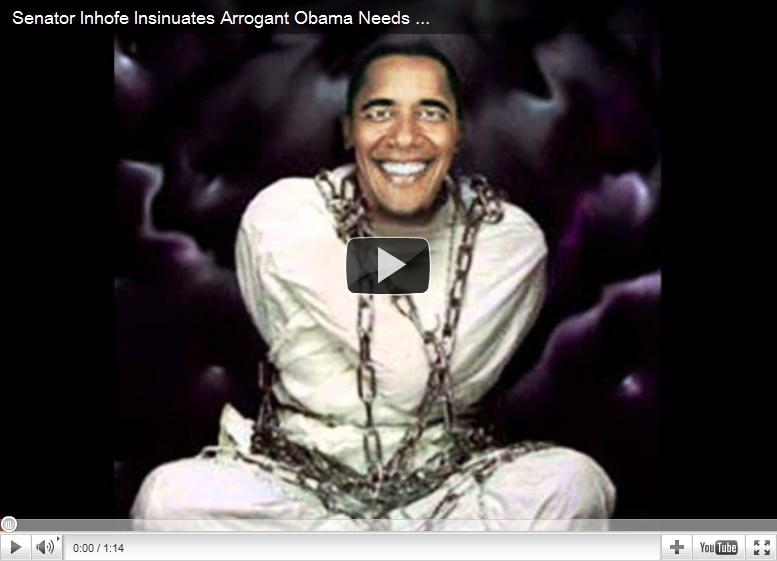 obama in a straight jacket
