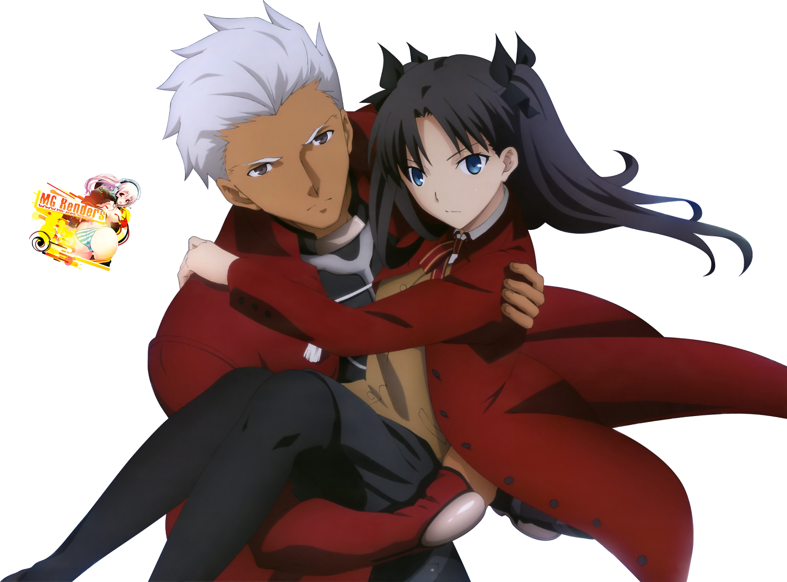 Tags: Anime, Render,  Archer,  Fate series,  Fate stay night,  Tohsaka Rin, PNG, Image, Picture