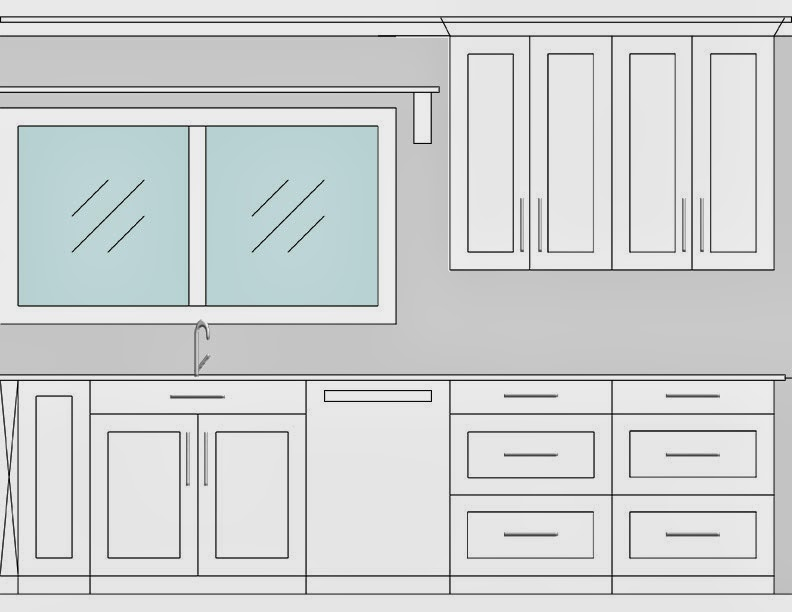 Kitchen Floor Plan from Medley of Golden Days Blog
