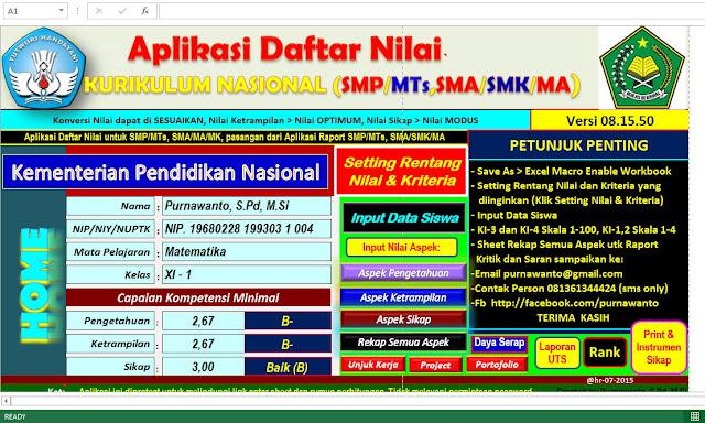 Aplikasi Penilaian Kurikulum Nasional ( Kurnas )