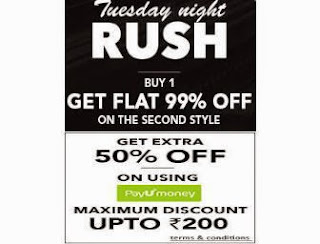 Buy 1 Get Flat 99% off on Second style + Extra 50% off Max Rs. 200 Via Payumoney