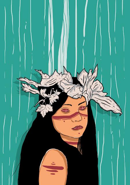 Dirtydonuts Tribe Girl Illustration