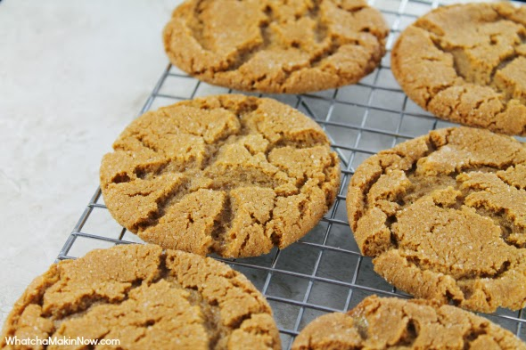 Classic Gingersnaps - Recipes uses shortening making them extra chewy!