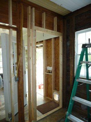 5 acres a dream new kitchen back door for Kitchen back door