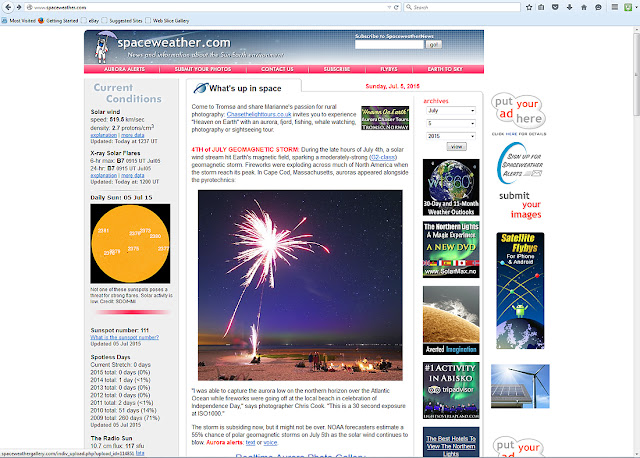 Cape Cod wedding blog photo from Chris Cook Photography about Front page NASA's Spaceweather.com