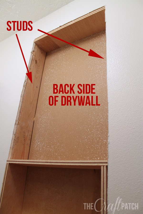 The Craft Patch How To Build A Shelf Between Studs
