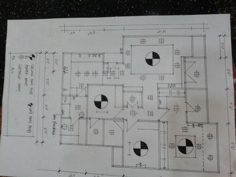 Teratak kami wiring lampu kipas and plaster ceiling plan untuk wiring lampu kipas asfbconference2016 Image collections