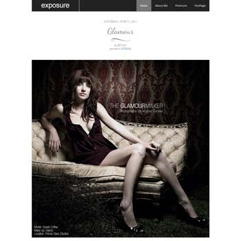 Exposure blogger template. download photo blogger template