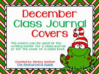 http://www.teacherspayteachers.com/Product/December-Class-Journal-Covers-FREEBIE-1012314