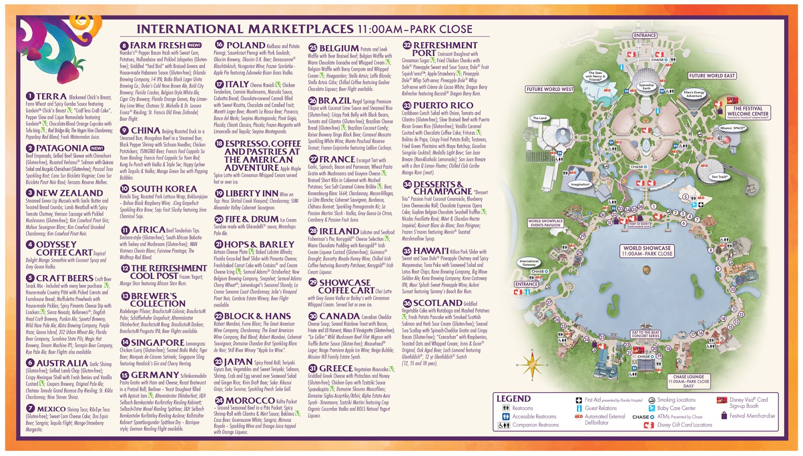 Epcot Food And Wine Festival 2017 Menu Pdf Foodstutorialorg