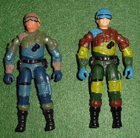 2003 Unproduced Wal Mart Sky Patrol Low Light, Midnight Chinese, Rare G.I. Joe Figures, 1989 Slaughters Marauders Low Light