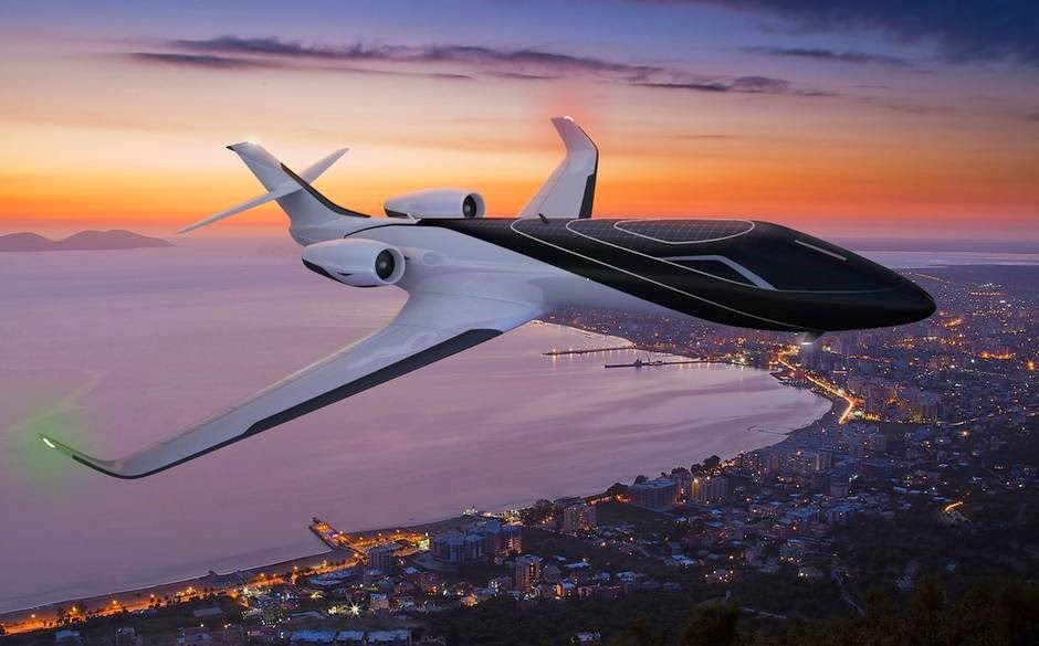 Photo of futuristic airplanes