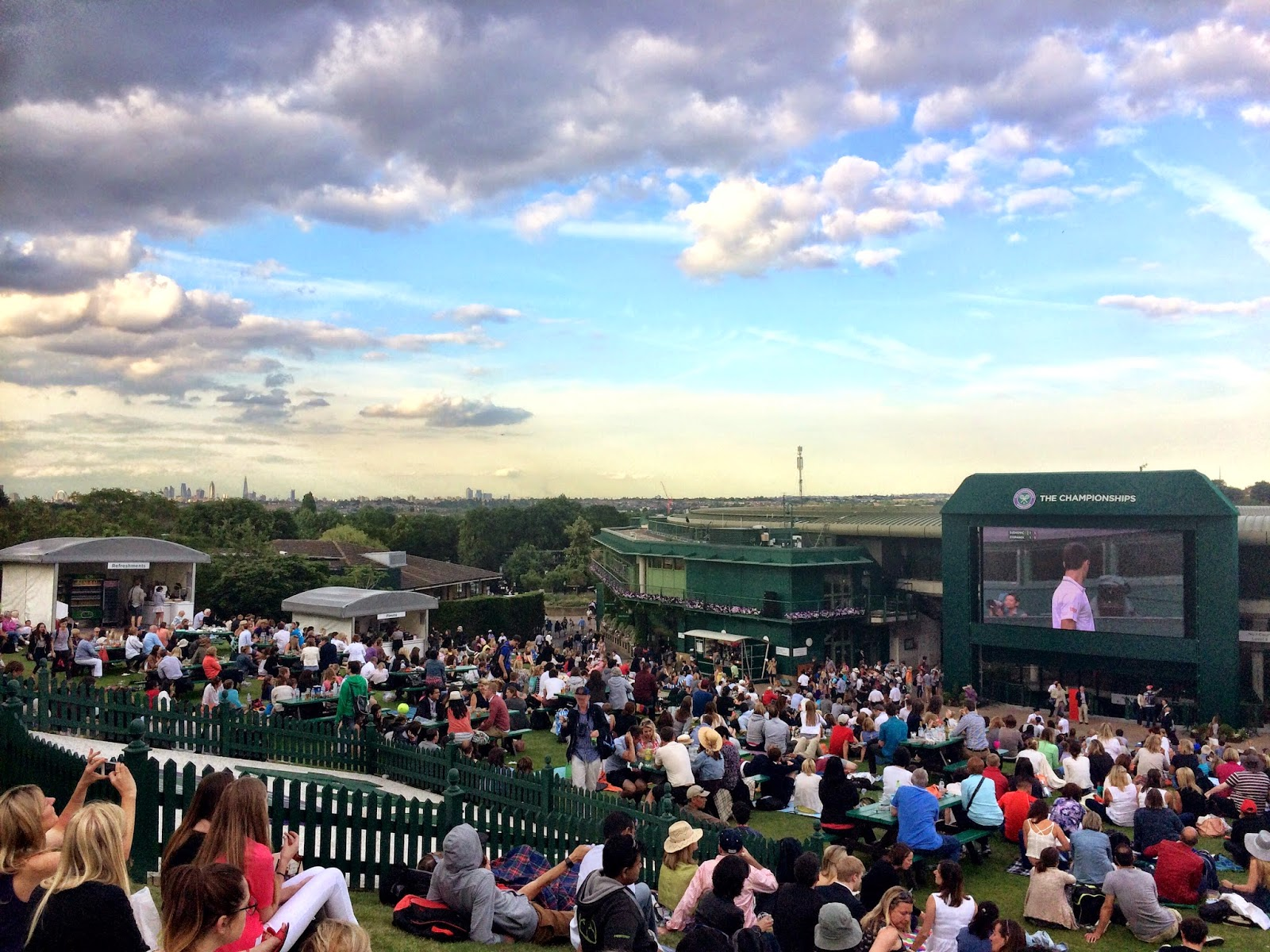 Murray Mound looking towards London - Wimbledon 2014
