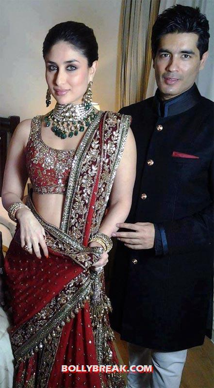 Kareena Kapoor and Manish Malhotra - (3) - Kareena Kapoor in RED Dresses