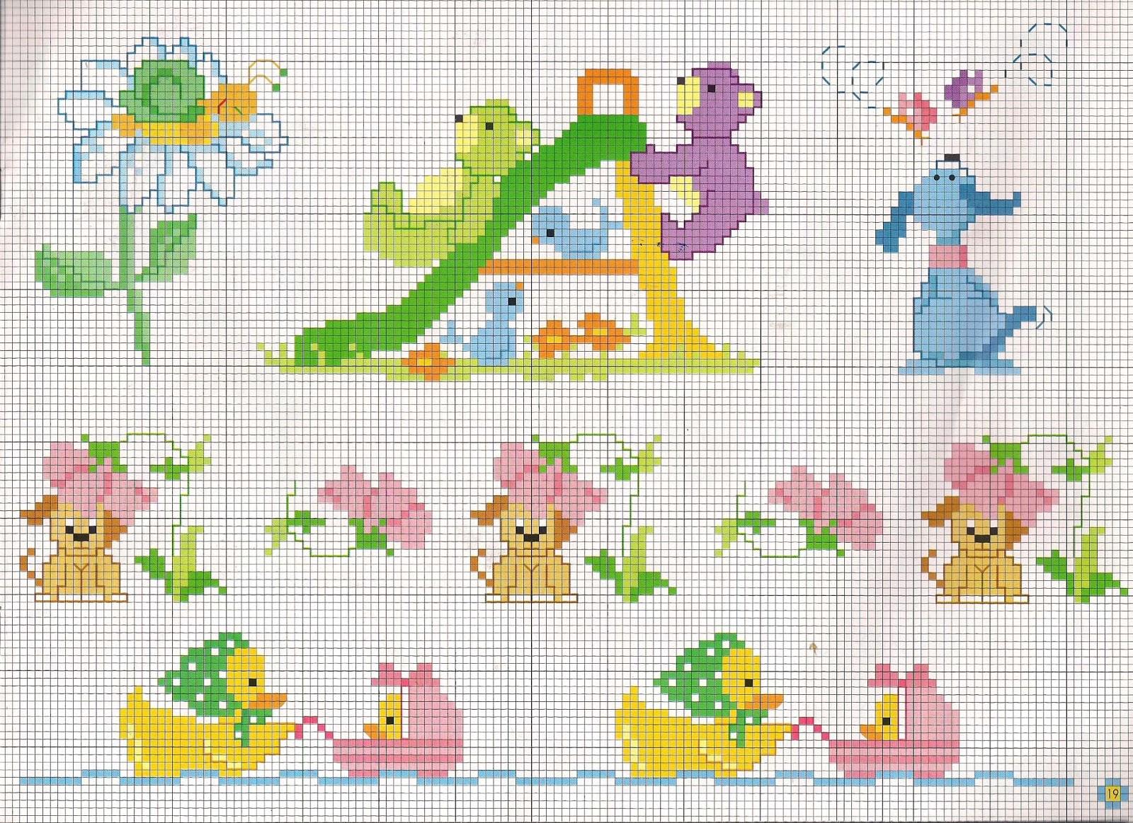 Schemi punto croce mani di fata gli schemi piu belli for Animali a punto croce per bambini