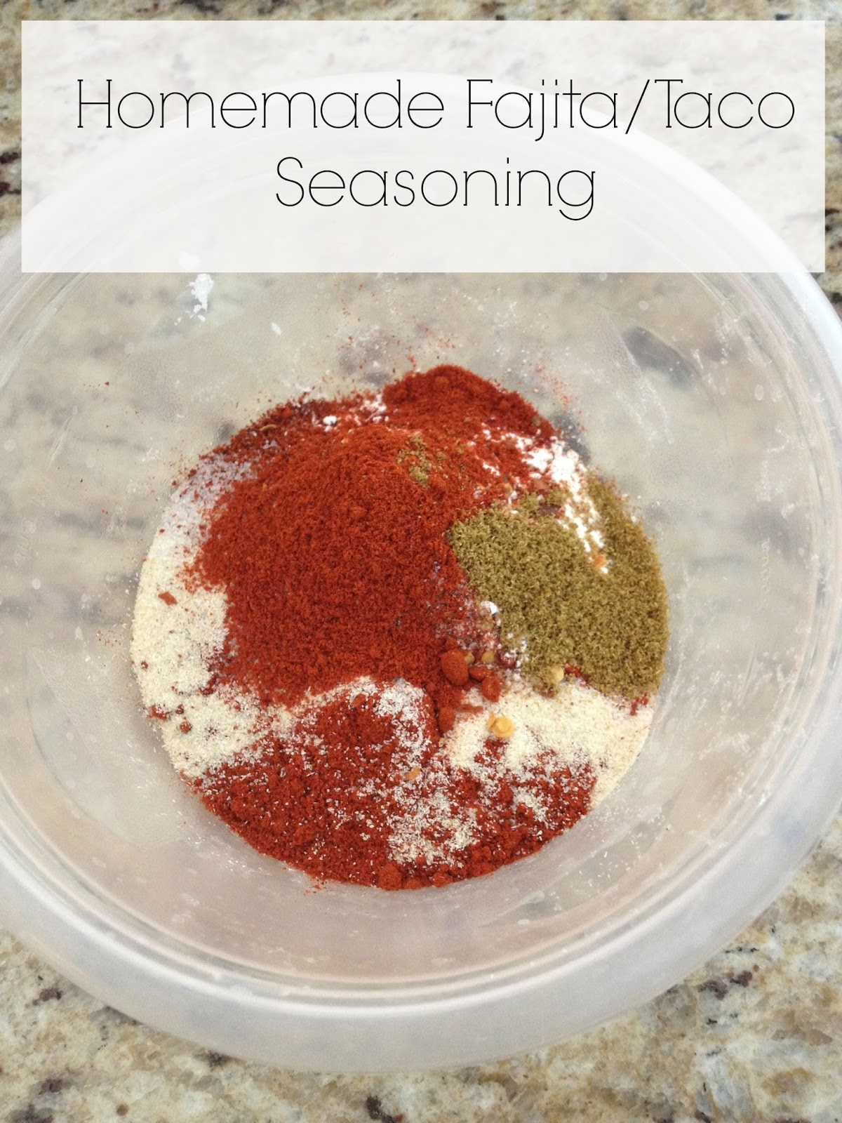Life Love Larson: Homemade Fajita/Taco Seasoning