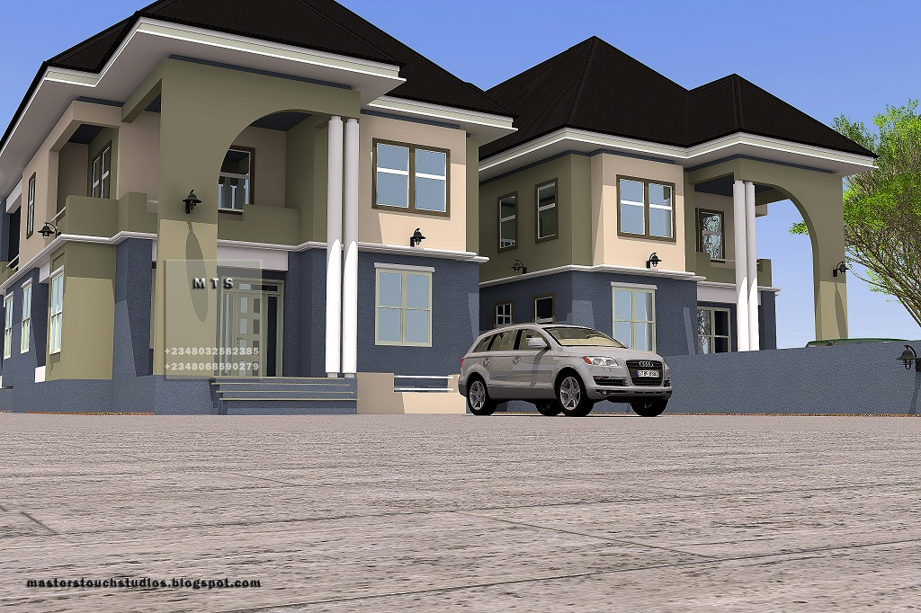 4 bedroom twin duplex residential homes and public designs for 6 bedroom duplex