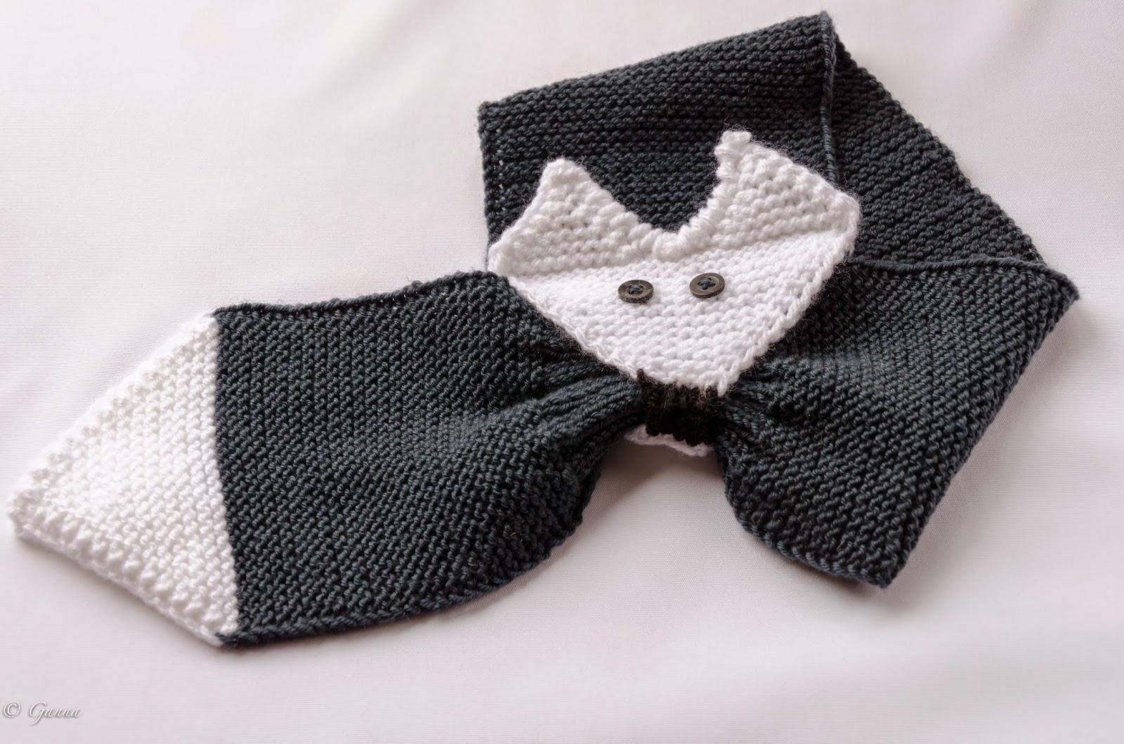 вязание спицами картинки и схемы шарфа-кот