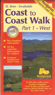 Footprint Map - Coast to Coast Walk Part 1 West Front