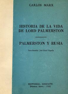 """""""Historia de la vida de lord Palmerston"""" - libro de Carlos Marx - accesible en los formatos digitales: doc, epub, azw Tapa"""