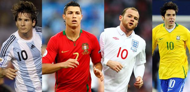 Messi vs Ronaldo vs Kaka vs Rooney Messi vs Ronaldo vs Kaka
