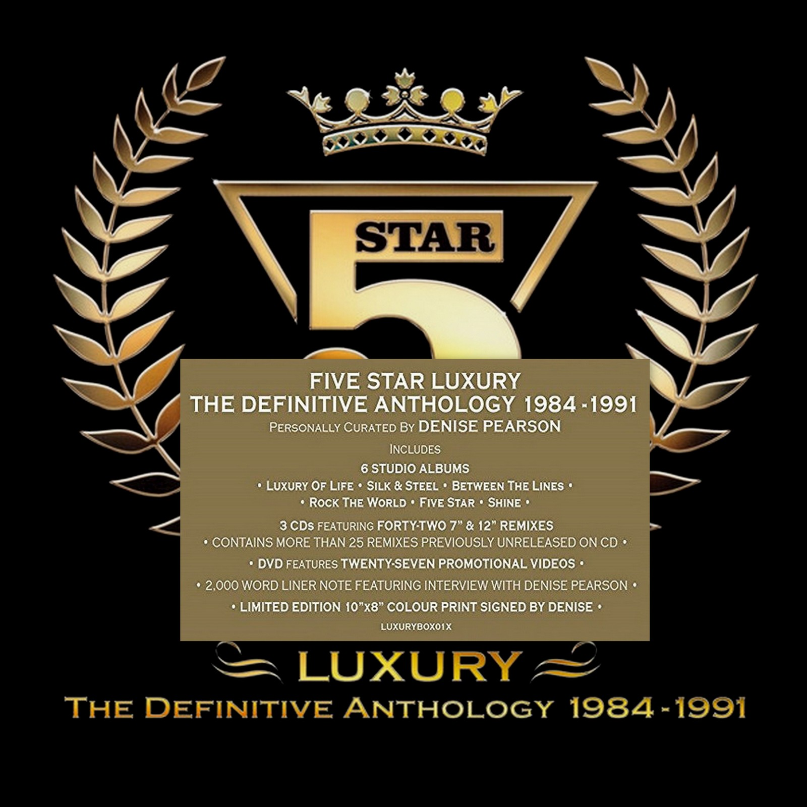 FIVE STAR COLLECTOR BOX LIMITED EDITION 10 CD