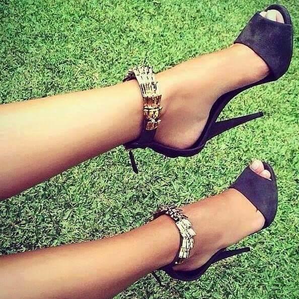 Latest Black High Heels  Shoes Ideas .