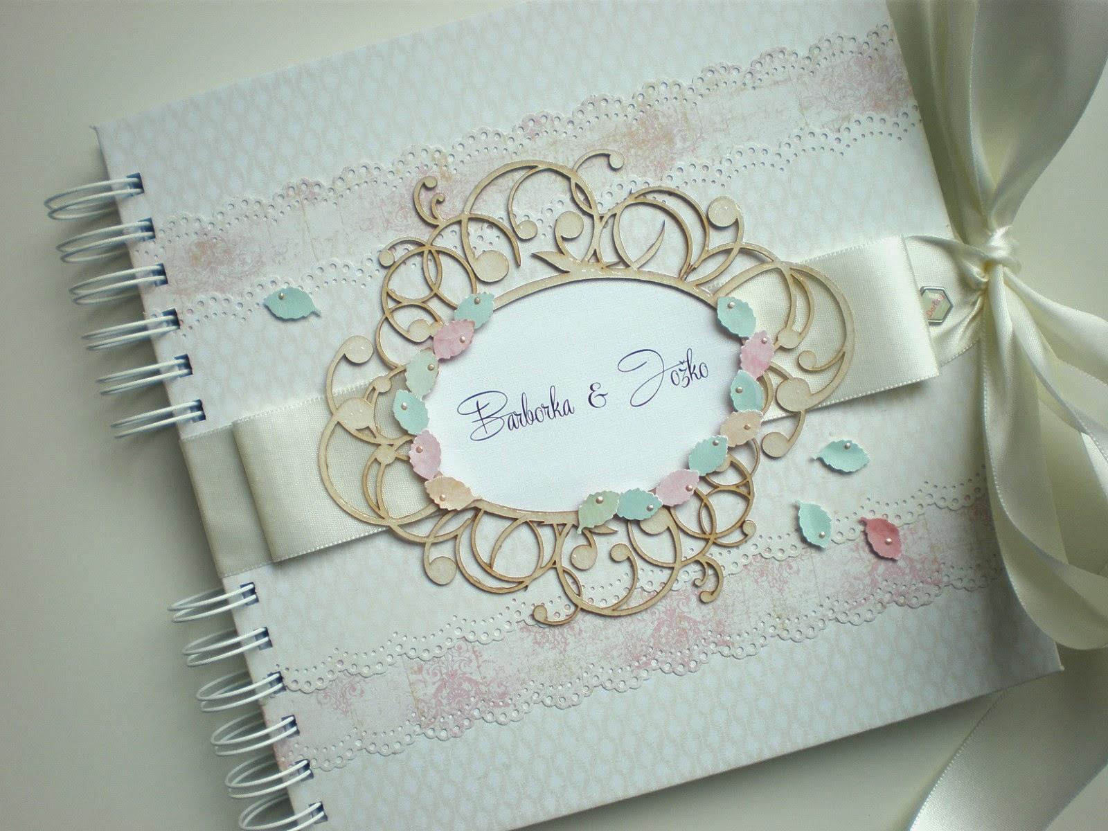 Kniha hostí / Wedding guest book pastel