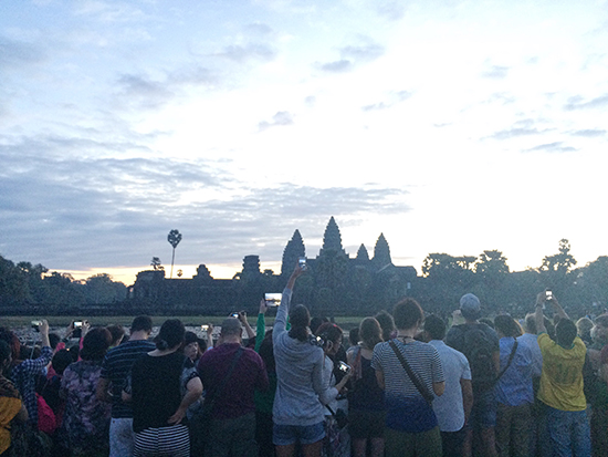Angkor Wat sunrise crowd