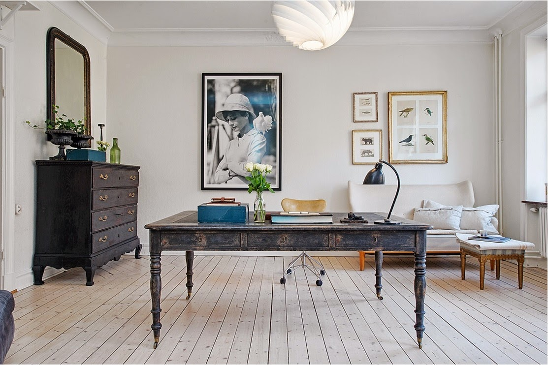 My bohemic home: vardagsrum i svartvitt, natur och trärent samt ...